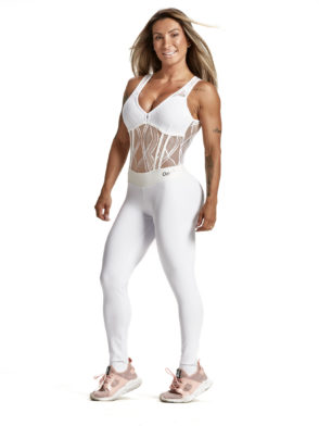OXYFIT Jumpsuit Draft 15224 White Sexy Rompers 1-Piece