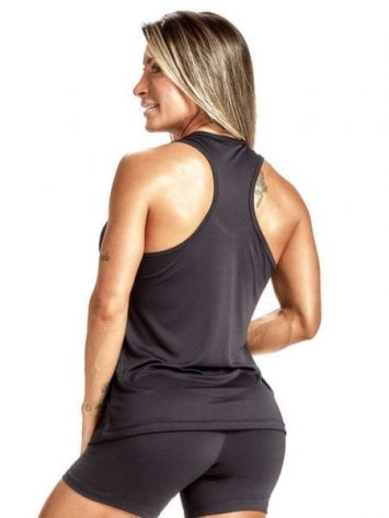 OXYFIT Tank Top Regata Single 46444 Black- Sexy Workout Tops