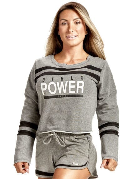 OXYFIT Blusa Power Top 50146 Mescla/Black - Long Sleeves