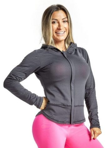 OXYFIT Long Sleeve Jacket Board 38044 Black- Sexy Sports Mesh