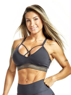 OXYFIT Sports Bra Top 27221 Charcoal – Sexy Sports Bras