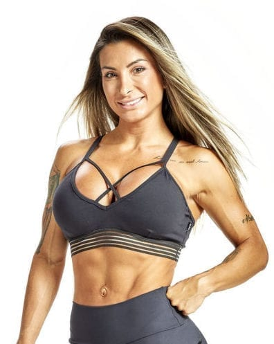 OXYFIT Sports Bra Top 27221 Charcoal - Sexy Sports Bras