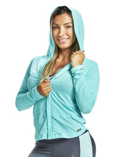 OXYFIT Long Sleeve Jacket Board 38044 Mint - Sexy Sports Mesh