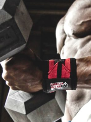 Gorilla Wear Wrist Wraps Pro Black/Red