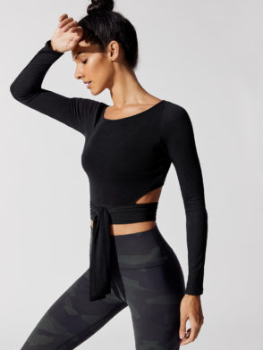 ALO Yoga Barre Long Sleeve – Black