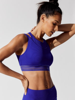 ALO Yoga Gaze layered Sports Bra Top (Sapphire)
