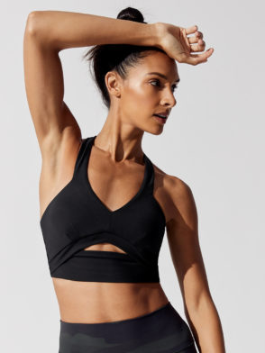ALO Yoga Pirouette Sports Bra Top (black)