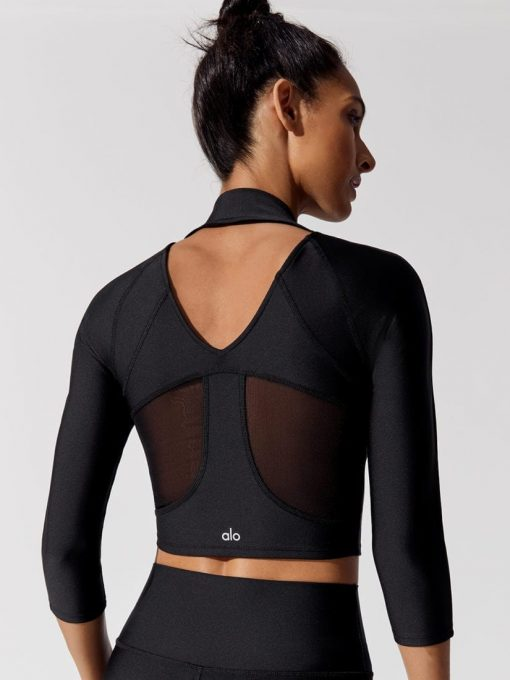 ALO Yoga Archer Fitted Long Sleeve (black)