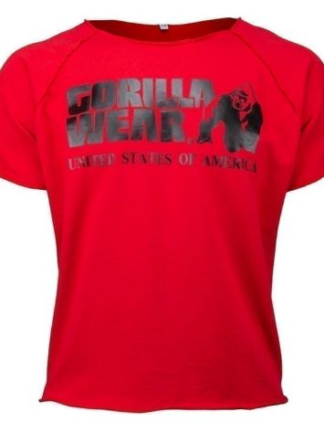 Gorilla Wear Classic Work Out Top – red