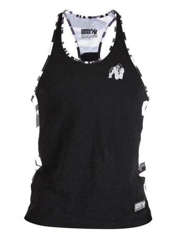 Gorilla Wear Sacramento Camo Mesh Tank Top – Black/White