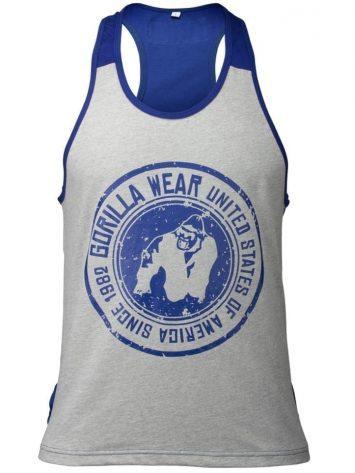 Gorilla Wear Roswell Tank Top – Gray/Navy