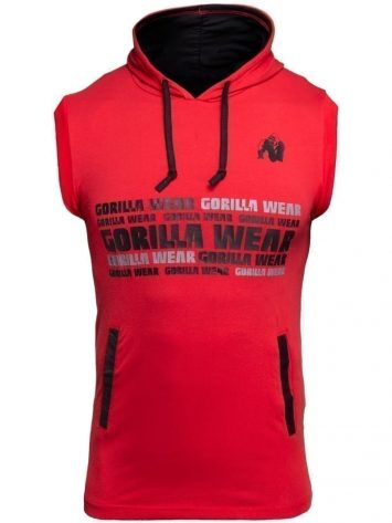 Gorilla Wear Melbourne S/L Hooded T-shirt – Red