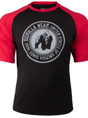 Gorilla Wear Texas T-shirt – red-Black