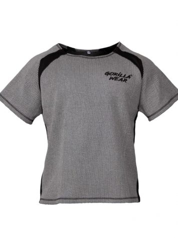 Gorilla Wear Augustine Old School Work Out Top – Gray