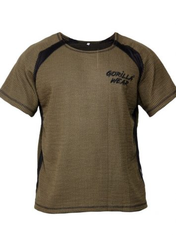 Gorilla Wear Augustine Old School Work Out Top – Army