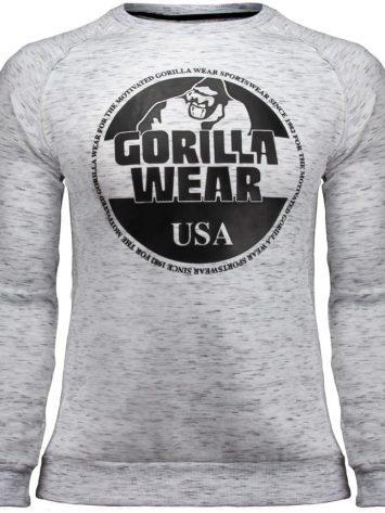 Gorilla Wear Bloomington Crewneck Sweatshirt – Mixed Gray
