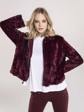 FREDDY WR.UP Jacket Top Life Style Inspired – Burgundy