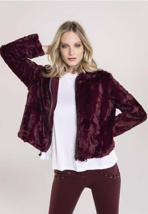 FREDDY WR.UP Jacket Top Life Style Inspired - Burgundy