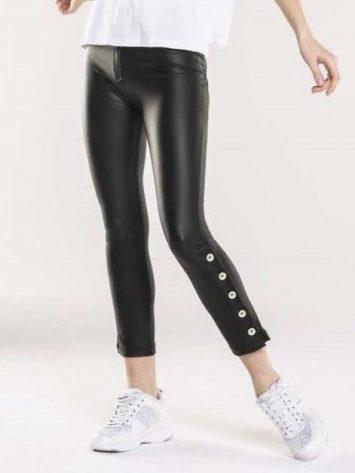 FREDDY WR.UP Evolution Wrup Snug – Leather Pants – Black