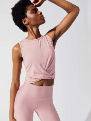 ALO Yoga Cover Tank – Pale Mauve