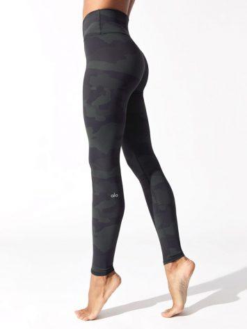 ALO Yoga High Waist Vapor Legging (gray camo)