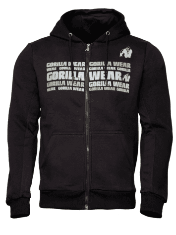 Gorilla Wear Bowie Mesh Zipped Hoodie – Black