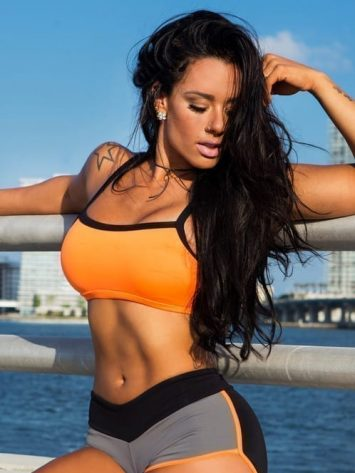 CANOAN  Sports Bra TOP 07861 Orange – Sexy Workout Tops