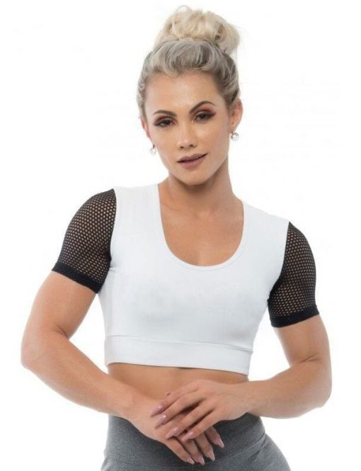 BFB Activewear Cropped Dolce Screen - white