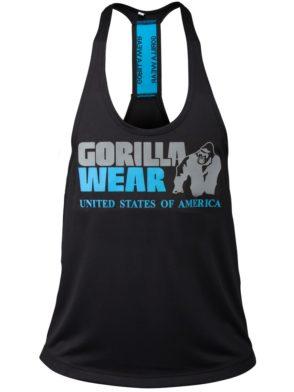 Gorilla Wear Nashville Tank Top – Black/Light Blue