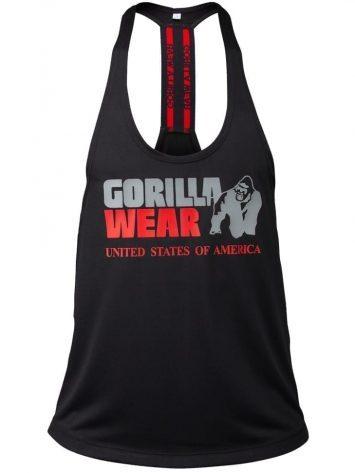 Gorilla Wear Nashville Tank Top – Black/Red