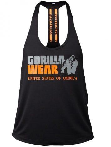 Gorilla Wear Nashville Tank Top – Black/Orange