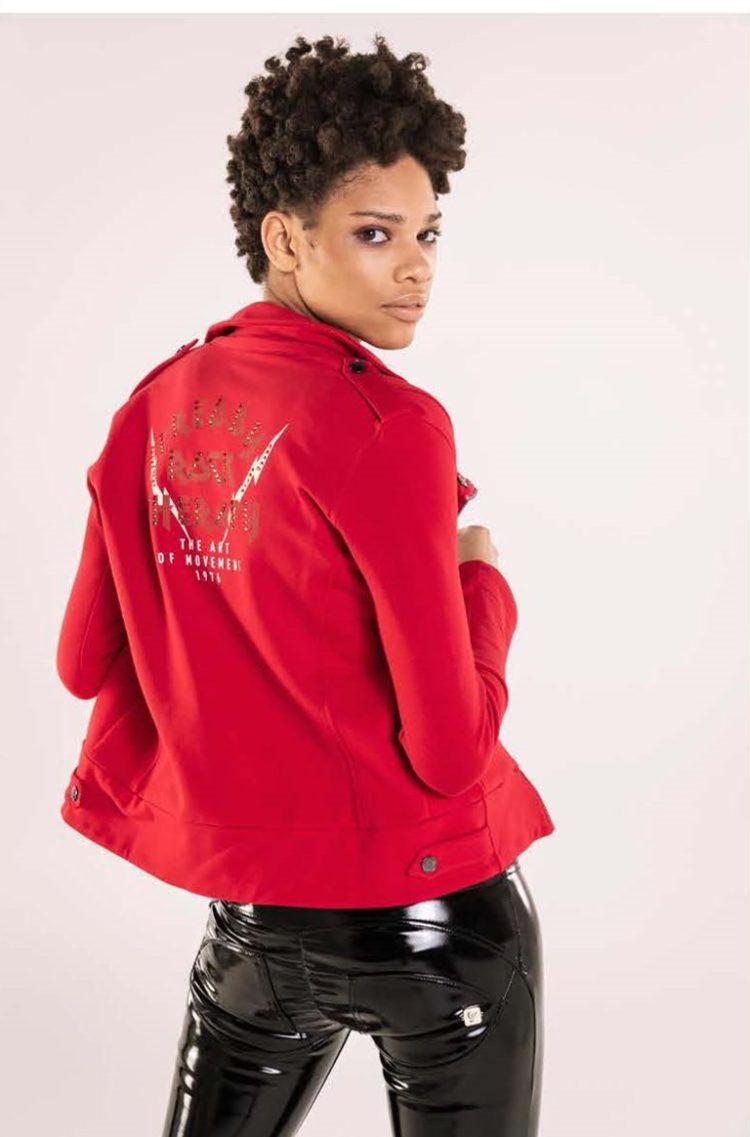 FREDDY WR.UP Jacket Top Millenials - Zipper w/Print - Red