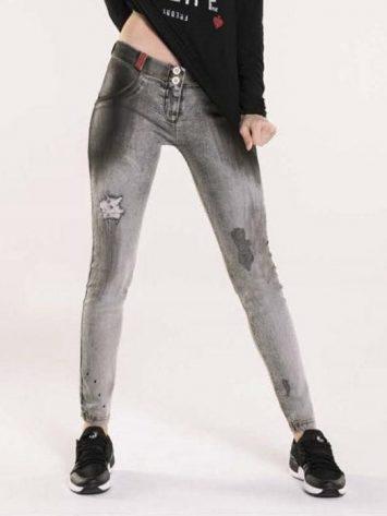 FREDDY WR.UP Seasonal WRUP Snug – Black Tar w/rips – Jeans