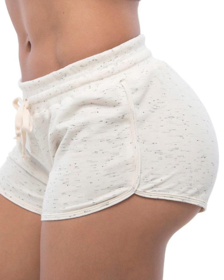 BFB Activewear Shorts Moletinho Sport - Off White