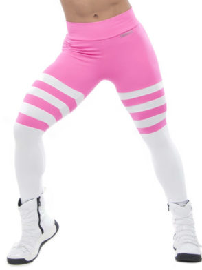 BFB Legging Angel- Blush Stripes Pink/white