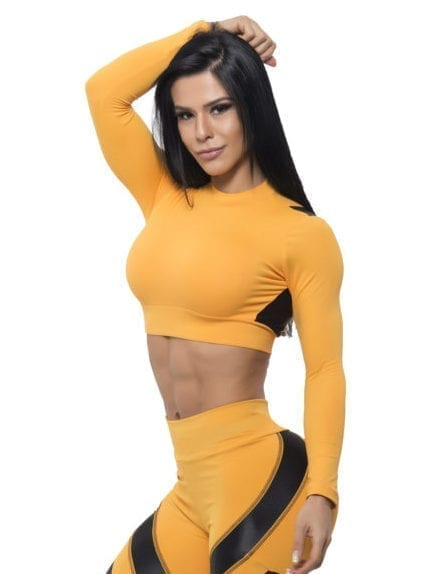 BFB Activewear Cropped Top Long Sleeve - Nectar