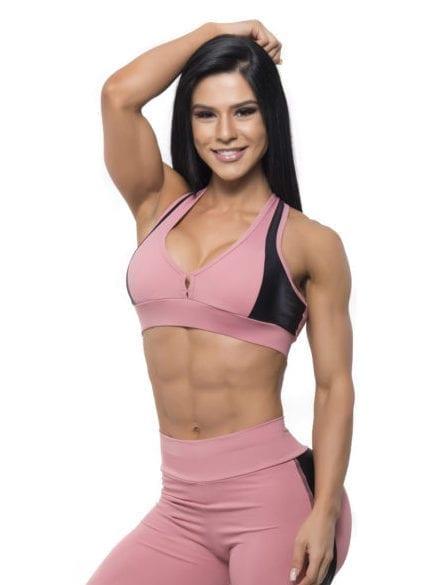 BFB Activewear Sports Bra Top Gym Rose - Rose/BlackBFB Activewear Sports Bra Top Gym Rose - Rose/BlackBFB Activewear Sports B