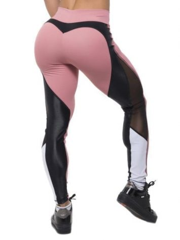 BFB Activewear Leggings Sweet Rose – Rose/Black/White