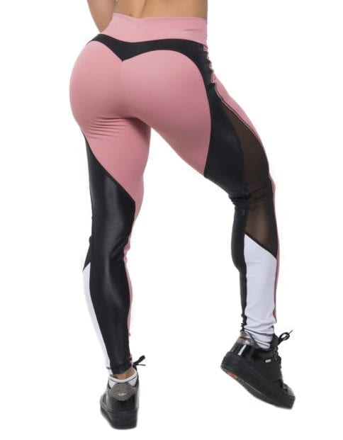 BFB Activewear Leggings Sweet Rose - Rose/Black/White