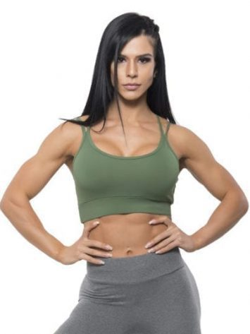 BFB Activewear Sports Bra Crop Top Still Verde – Green