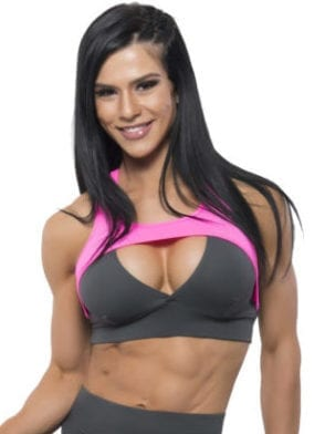 BFB Activewear sports Bra JUJU GRAY/PINK