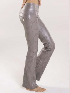 FREDDY WR.UP High Rise WRUP – Trousers in Python Print Faux Leather