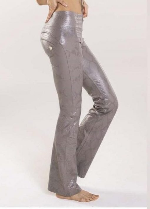 FREDDY WR.UP High Rise WRUP - Trousers in Python Print Faux Leather