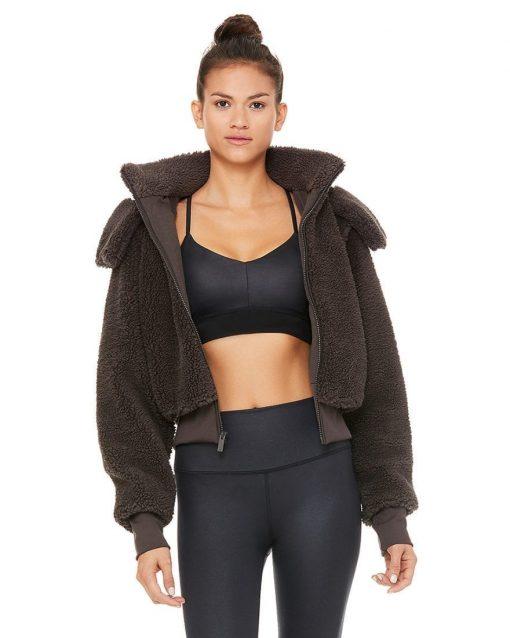 ALO Yoga Foxy Sherpa Jacket - Dark Coco
