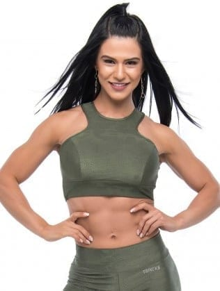BFB Activewear Cropped Top Stronger - Green
