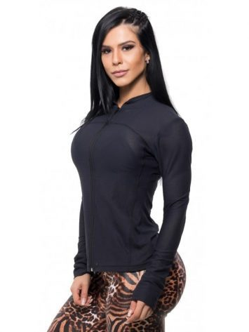 BFB Activewear Gym Jacket – Black