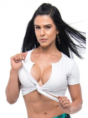 BFB Activewear Crop Top Sexy Lust – white