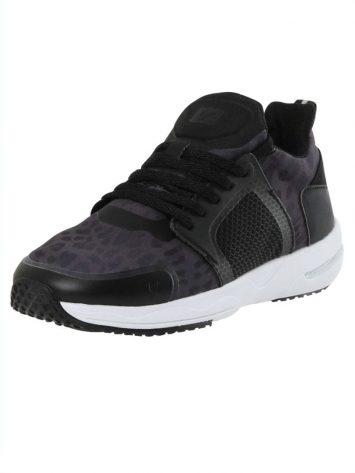 Freddy Fitness Footwear – Feline 2.0 Leopard Print Sport Shoe – black
