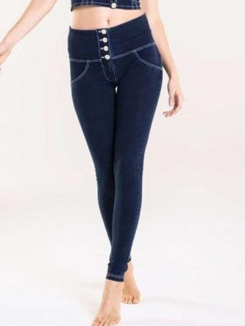 fFREDDY WR.UP High-Rise Super Skinny Trousers WR.UP in Denim