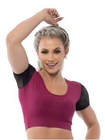 BFB Activewear Cropped Dolce Screen – Marsala